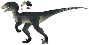Raptor adoptable #5 -CLOSED- by GoldenNove