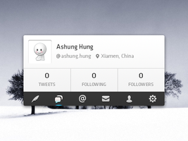 twitter interface psd by Ashung