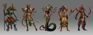 Kemet Characters by Trishkell