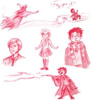 Harry Potter Doodles by Izoona