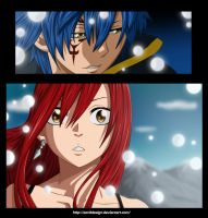 Jellal and Erza by ZeroooArt
