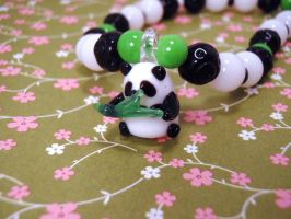 Panda Glass charm necklace by PoniesOfDOOOM