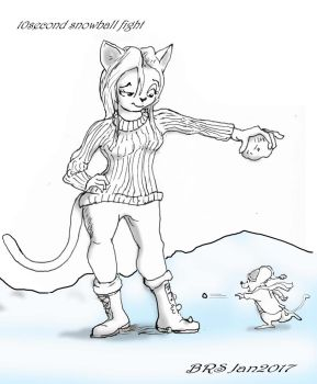 10 second snowball fight by bscruffy