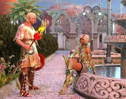 Hermes and Athena by Hera-of-Stockholm