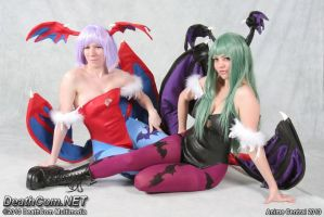 Morrigan and Lilith - 02 by Peachykiki