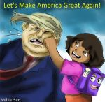 Dora and Trump by Millie-Rose13