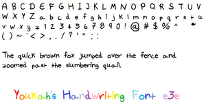 Youkah's Handwriting Font by Youkah