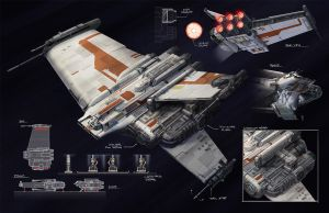 BT-7 Thunderclap : SWTOR Trooper Ship by killersquirrelz