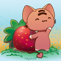 A Strawberry For Hump Day by lafhaha