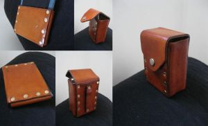 Leather Pouch and Wallet case by passbyguy