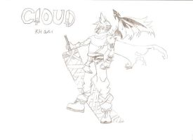Cloud KH by waluigipenguin8