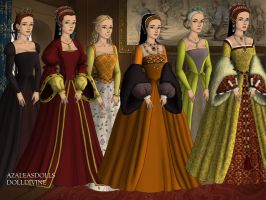 Henry VIII's last three wives by AngelicaRose24