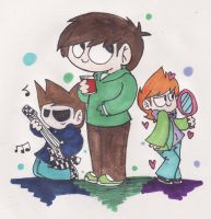 EW: Edd,Tom and Matt :3 by sariasong64