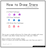 [Tutorial] How to Draw Stars: Simple Cheat Sheet by Tesvp
