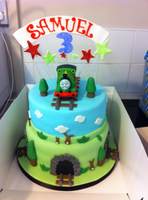 Sammy's Percy Birthday Cake by BingotheCat
