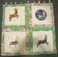 Completed Easter Bunny QUilt by carouselfan