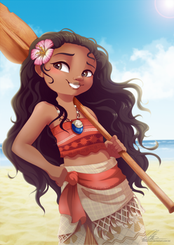 I am Moana by dennyvixen