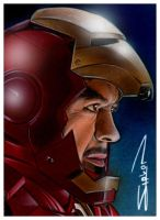 Iron Man Sketch Card by RandySiplon