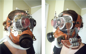 Steampunk Gas Mask With Goggles by SteampunkTigerlily