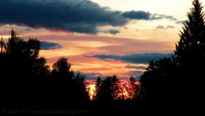 Fiery Evening in the Flathead by Dreamz-of-Twilight