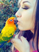 Birdie Kisses by NatVon