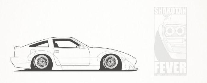 TRA Kyoto Z31 with bumper cover by ShakotanFever