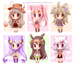 Kemonomimi Adopt Batch ||CLOSED by Hazelnutchan