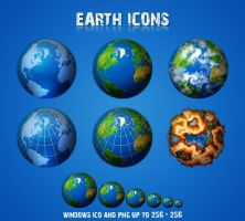 Earth icons by miffo