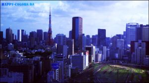 Tokyo - Tokyo Tower - by happy-colors