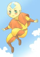 Avatar - carefree chibi Aang by O-Kei