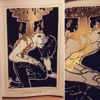 Ink/GrossTober 25: Sacrificed by Rejuch
