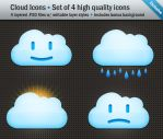 Cloud Icons - Set of 4 .PSD by AbstraktSystem