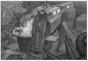 Junk planet shelter - exterior design by martydesign