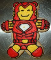 Iron Man cookie by CookieGeek