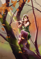 The Lady of the Wise Trees by Aliciane
