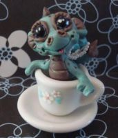 polymer clay teacup dragon dib by crazylittlecritters