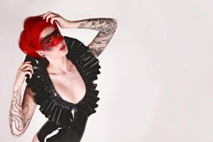 Cervena shoot 3 by Flutterbybybye