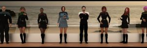 The crew of the U.S.S. Sentinel (NCC-28001-A) by Arthaniel82