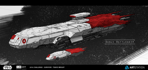 ILM Challenge - The Job - Danji Battleship by ApneicMonkey