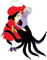 Captain Hook and Ursula by ColdHeartedCupid