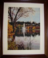 McGuire Lake Cross Stitch by Katjakay
