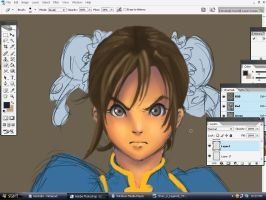 work in prog - Chun Li by Kabisote