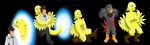 Comission: Chocobo Living Suit (Chocobo TF TG) by PhoenixWulf