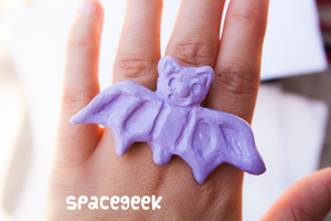 Lavender Bat Ring by candypow