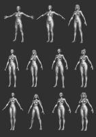 Female Body Bases P1 by HecM