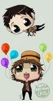 Happy Birthday Cas by kuroineko