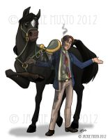 Hywell and Arian by Jackie-M-Illustrator