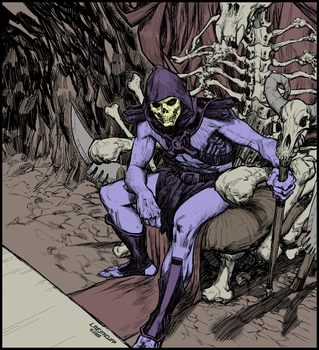 Skeletor - flat color by Laemeur