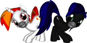Misty and Shadow in 3D Pony Creator by Smart-7