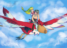 Skyloft Flight by Makirou